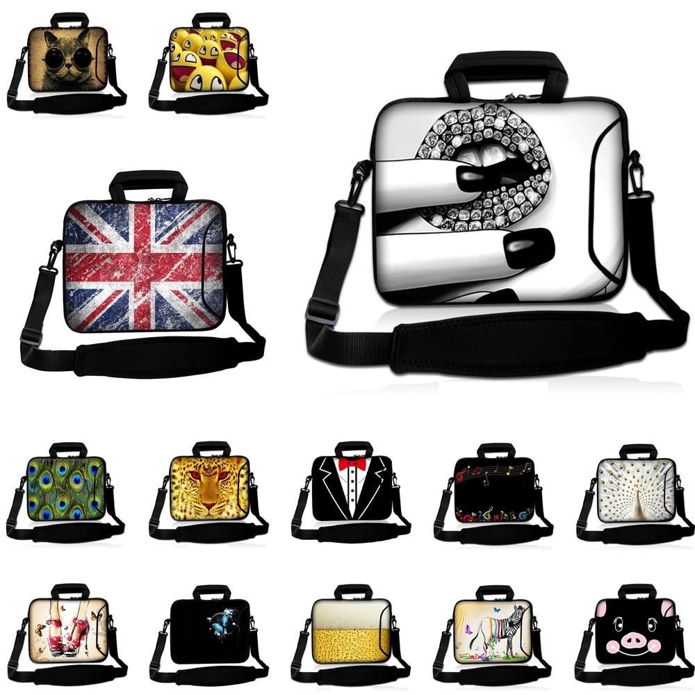 """Capa Para Notebook Neoprene Messenger Handle Briefcase 10"""" 12"""" 13"""" 14"""" 15"""" 17"""" Laptop Shoulder Stram Messenger Carry Bag Case"""