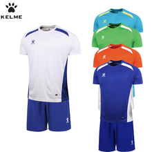KELME Official Authentic Spain Hombre Soccer Uniforms Sets Team Short Football Training Suits Quick-drying Soccer Uniforms(China)