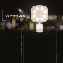 ROCK O2 Phone Selfie Light Mobile Phone Camera Flash Led light(China)