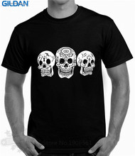 T Shirt Shop Online Gildan Crew Neck Men Short Sleeve Best Friend Rock Goth Tattoo Skull Shirts