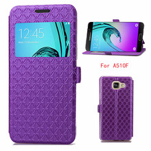 Purple Hotsale ultra-thin Phone case for Samsung Galaxy A5 (2016) SM-A510F (5.2 Pouces) pu leather Shock Proof Card Holder Cover(China)