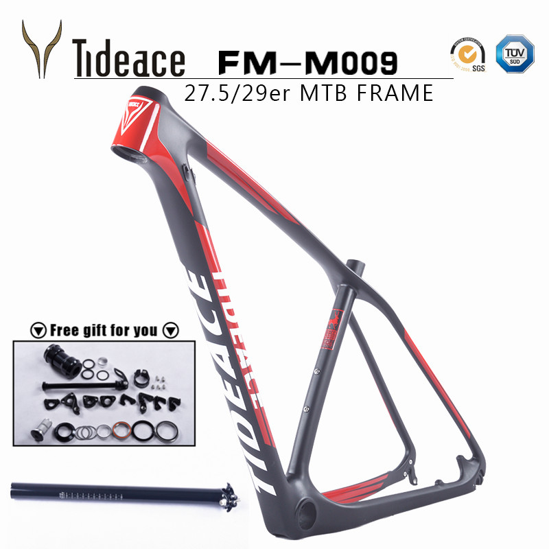 2017 bicycle 29er carbon frame Chinese MTB carbon frame 29er 27.5 carbon mountain bike frame 650B disc carbon fiber frame 29(China (Mainland))