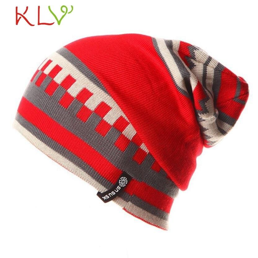 CharmDemon New Arrival Fashion Warm Winter Women Men Knit  Crochet Slouch Hat Cap st16Îäåæäà è àêñåññóàðû<br><br>