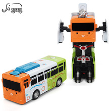 New Transformation Alloy Bus Robot Action Figures Toy Kids Manual Deformation Pull Back Car Diecast Gift Toys for Children