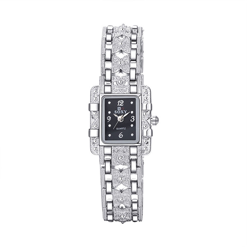 SOXY Luxury Brand Watch Fashion Silver Bracelet Quartz Watch Women Dress Watches Ladies Watch Lady Hour Clock Relogio Feminino(China)