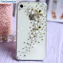Luxury All over the sky star floret Bling Crystal Diamond flower Case Cover For iPhone 6 6 plus 5 5g 5s 5c 4 4g 4s 3g 3gs