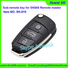 SK019 AudiStyle No. A fixe code copy remote for SK-668 remote master/lock smith tool/digital counter remote(China)