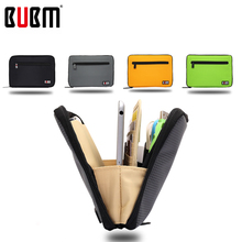 BUBM Double Layer Padded Travel Case Packing Cubes for iPad Mini Electronic Accessories Organizer Makeup Bag(China)