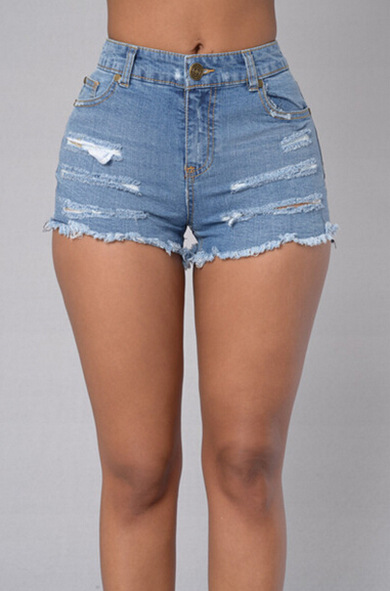 Women Short Ripped Jeans for Women 2017 Hot Mid Waist American Apparel Boyfriend Jeans Woman Blue Skinny Denim Shorts JeansОдежда и ак�е��уары<br><br><br>Aliexpress
