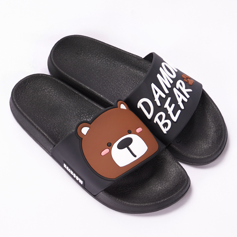 Cartoon Women Summer Slippers Cute Damon Bear Soft Sole Slides Home Slippers Indoor & Outdoor Sandals Women Shoes Flip Flops 14
