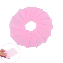 Pink 100 Pcs Nail Polish Remover Cleaner Manicure Wipes Lint Free Cotton Pads Paper Nail Art Tips