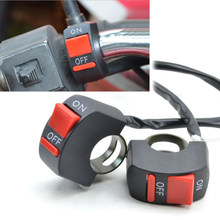 Universal Motorcycle Handlebar Fog Light Switch ON-OFF Button Switch 12VDC For U5 U7 LED Head Lamp Angel Eyes Light(China)