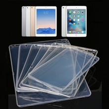 2017 The Newest Ultra Thin Transparent Soft TPU Case Cover For iPad 1/2/3/4 Air Mini Pro 9.7'' C26