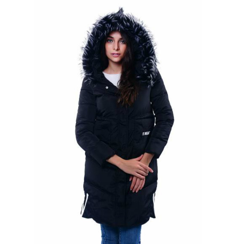 Girls Long Winter Parka Jacket Fur collar Slim Cotton Padded  Coat Women Thicken Printed Jackets with Hood Plus Size ParkasÎäåæäà è àêñåññóàðû<br><br>