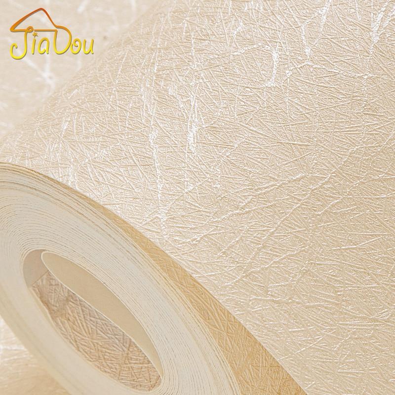 Modern Minimalist Flax Solid Color Silk Wallpaper PVC Waterproof Living Room Bedroom Office Decoration Background Wallpaper Roll<br>
