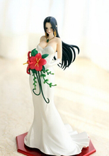 Wholesale newest arrival 5pcs Japana anime One Piece Boa Hancock on wedding dress pvc figure toy tall 23cm in box via EMS.