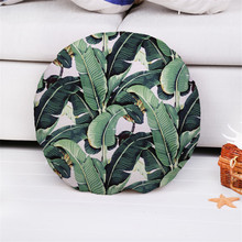 decorative green cushion cover round pillow case throw pillow covers home decor car-covers cojines decorativos para sofa
