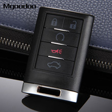 Mgoodoo 5 Button Keyless Smart Remote Key Shell Case For Cadillac CTS DTS STS Escalade Car Replacement Key Entry Fob Car-covers