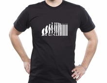 Retro T Shirts Human Evolution Banksy Mankind Monkey Barcode Capitalism Anarchy Tee shirt Design Website