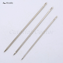 Hicello 25Pcs/bag Triangular Needle DIY Manual Leather Hand Stitches Stainless Steel Leather Sewing Needles 4.7/4.5/4cm costura