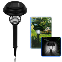 Solar Powered UV LED Solar Powered Outdoor Mosquito Insect Pest Bug Zapper Killer Mosquito Repeller Garden Accessories