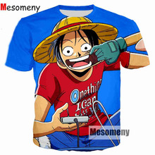 Mesomeny Fashion Men T Shirt Classic Anime One Piece Joba T-shirts 3D Print Tshirt Pullover Tops Tees Shirts Brand Clothing(China)
