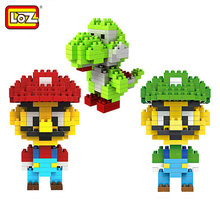 LOZ Super Mario Bros Toy Figure Model Luigi Yoshi Building Blocks Game Original Box 9+ Gift NEW - ZRTang store