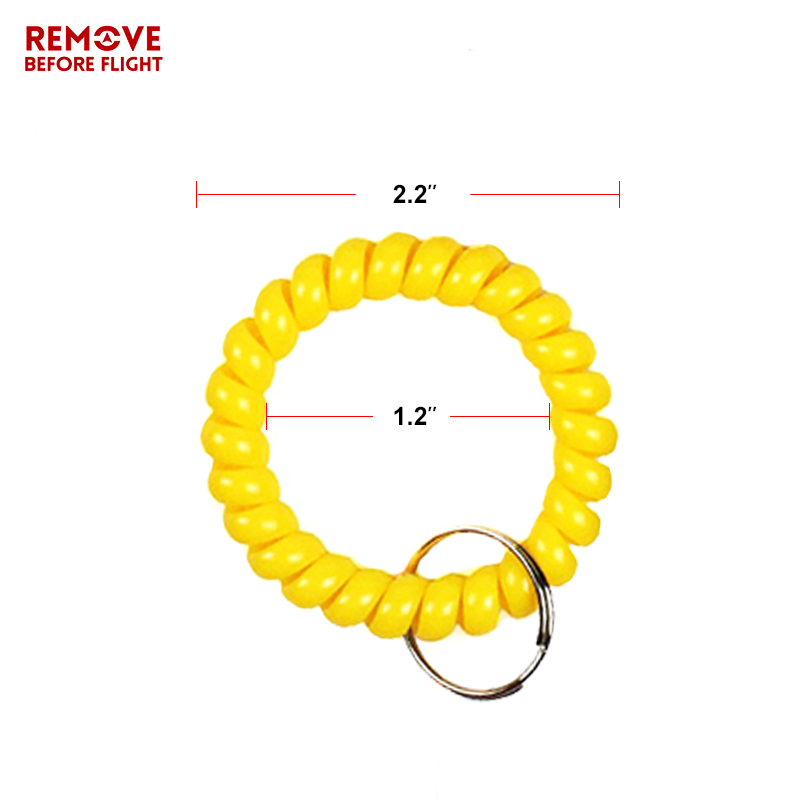 Fashion Multifunctional Coil Bracelet Key Ring Holder Coil Spring Key Chains Jewelry Hair Ring Sauna and Beach Keyring Bracelets (4)