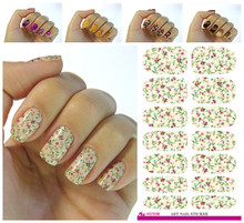 New design art sticker pink peony flower design nail stickers manicure nails packaging applique adornment tool(China)