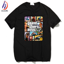 Grand Theft Auto GTA T Shirt Men Street Long with GTA 5 T-shirt Men and Women Famous Brand TShirts Children Tops Tees GTA5