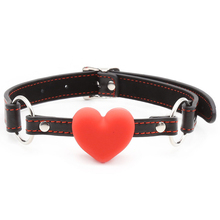 Buy Heart Shape Mouth Gag Leather Harness Slave Bondage Restraints BDSM Fetish Gag Ball Adult Games Sex Toys Couples