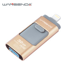 WSD USB Flash Drive for iOS 32GB 3.0 pen drive OTG pendrive memory stick flash drive for iphone5 5s 6 6s 7/ipad/ Android phone(China)
