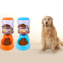 Automatic Pet Feeder Safety Plastic Dog Food Drink Bowl Puppy Dog Dispenser Pets Water Fountain For Dogs Cats Pet Feeding Bowl(China)
