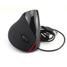 Rechargeable 1000 DPI Wired Handheld Mouse for Computer Creative Vertical Groove Surface USB Mouse