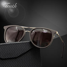 TRUTH women's Polarized sunglasses flex hinge Gradient Oval acetate clear sunglasses luxury brand in case lunettes soleil homme