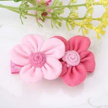 New Two Colors Flowers Hairpins Girls Rose Flower Hair Accessories Barrette Headdress Lovely Hair Clip