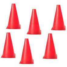 Super sell 6 PCS Multi-function Safety Agility Cone for Football Soccer Sports Field Practice Drill Marking - Red