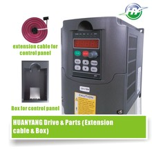 HUANYANG VFD Driver 0.75KW 220V spindle inverter frequency converter & extension cable + clamp factory direct sales