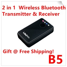 B5 2in1 Bluetooth Transmitter Receiver HIFI Wireless Receiver A2DP Portable Audio Player Aux 3.5mm Jack Bluetooth Audio Adapter(Hong Kong)