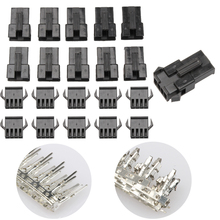 100PCS 4-Hole SM Pin Male Crimp Pins+Female Pin Connector Terminal Way Electrical Terminals Connectors with Box(China)