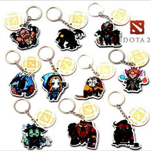 New Arrival wooden DOTA2 keychain 10 style Llavero Chaveiro Jewelry Men Jewelry Kids Gifts Keyring wholesale game surrounding