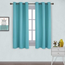 NICETOWN Window Treatment Thermal Insulated Solid Grommet Room Darkening Curtains / Drapes for Bedroom (2 Panels,106 x 113 cm)