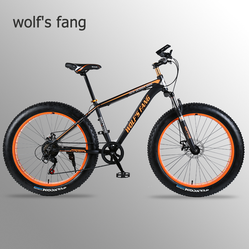 Road-Bike Bicycle-Bikes Wolf's Aluminum-Alloy-Frame Snow Fang Beach 26x4.0-Oversized title=