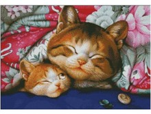 Embroidery Package Hot Sell Best Quality Cross Stitch Kits Cat Animal Under Quilt Free Shipping(China)