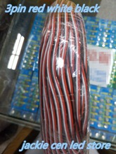 200m/lot 3pins LED extension wire cable, thinned copper wire, cord 3 pin for 2811 WS2812 LED strip light, 22AWG