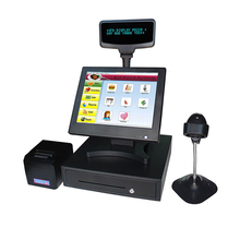 8815 15 Inch Touch Screen Cash Register Touch One Machine Supermarket Cash Register Cashier Meal Machine One Machine VFD Guest