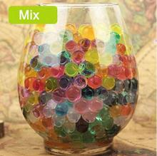 500 Particles /lot water beads Pearl shaped Crystal Soil Water Beads Mud Grow Magic Jelly balls wedding Home Decor hydrogel mix