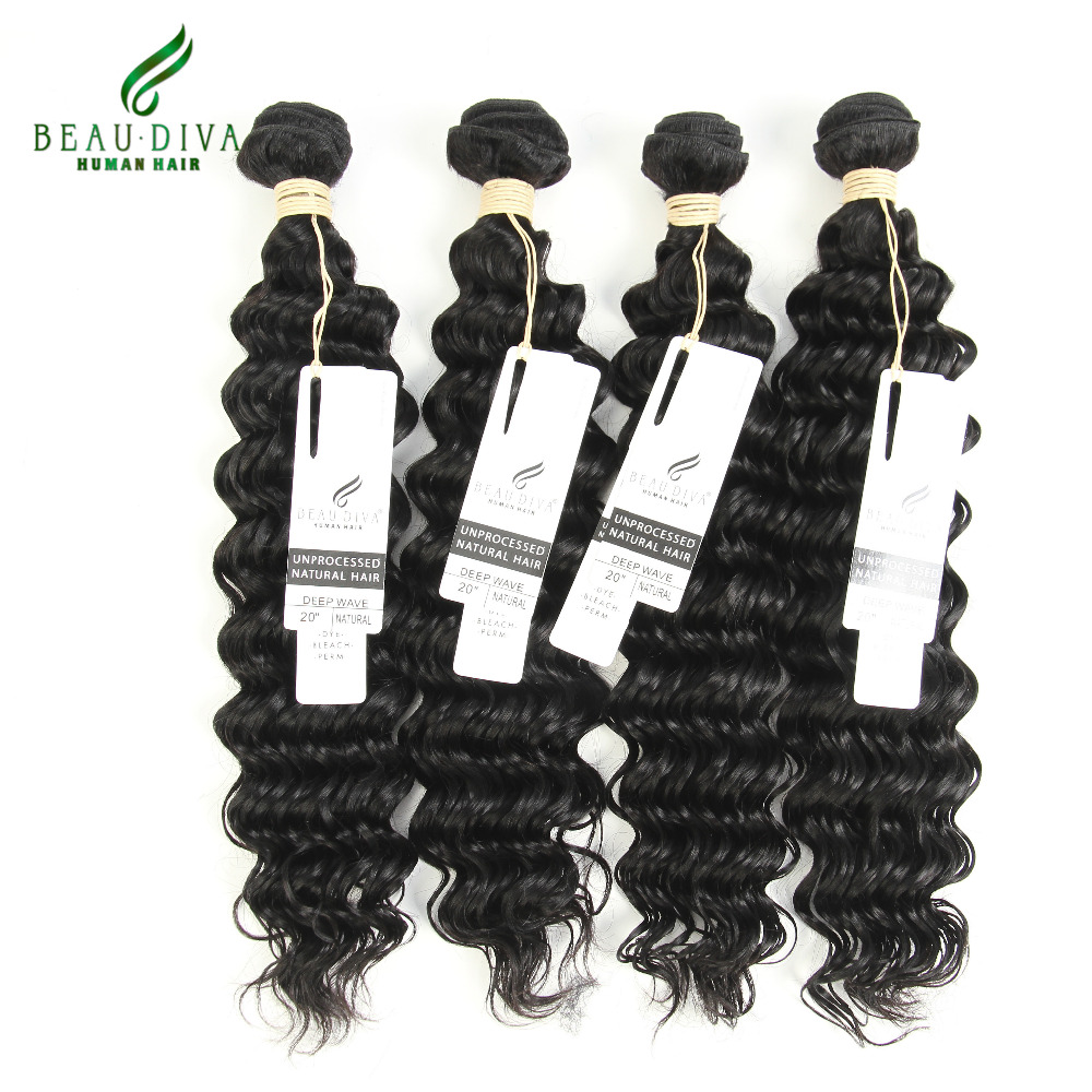 Cheap Deep Wave Malaysian Hair 4 Bundle Deals Malaysian Virgin Hair Deep Curly Weave Human Hair 100% Remy Malaysian Curly Hair<br><br>Aliexpress