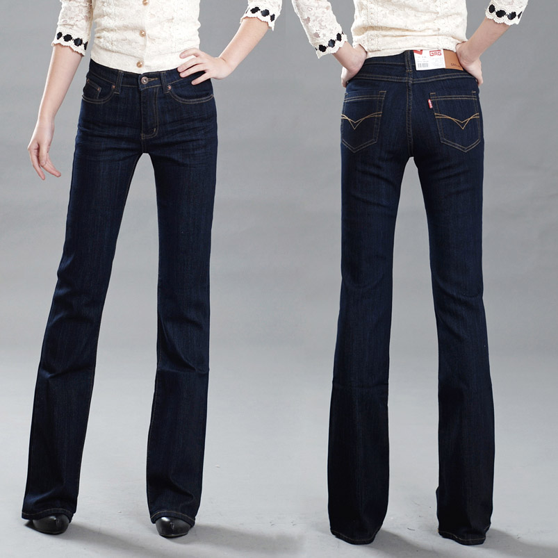 High Quality Promotion Womens Slim Mid Waist Boot Cut Jeans Fashion Bell Bottom Trousers Comfortable Flares Pants MB16126WОдежда и ак�е��уары<br><br><br>Aliexpress