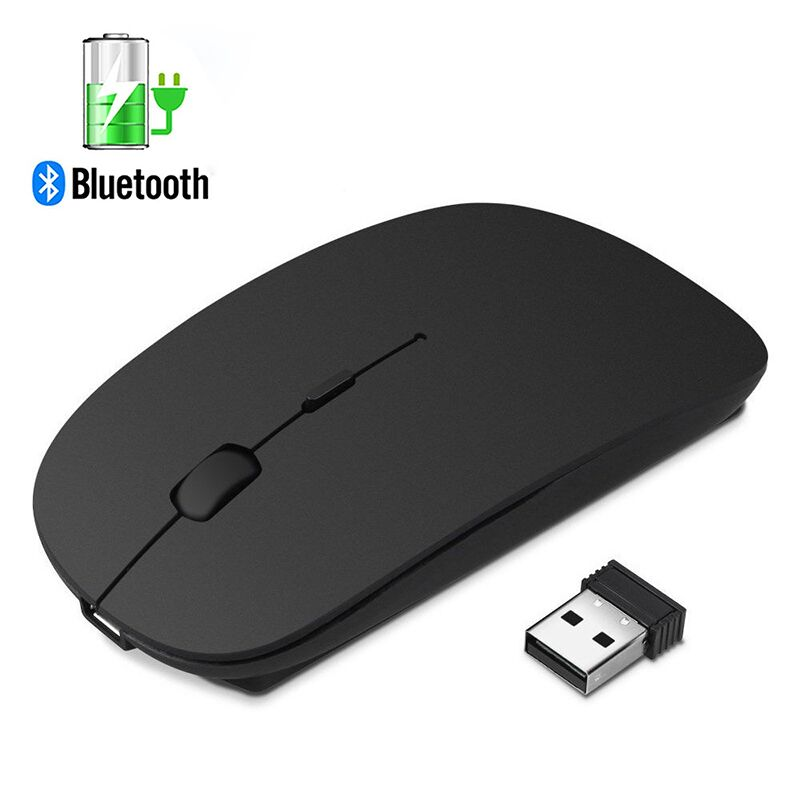 Color : 2.4G Wireless Blue Wireless Bluetooth Mouse Wireless Rechargeable Mouse Computer Ergonomic Mice Silent Mini PC Mause 2.4GHz USB Mouse for Laptop Game